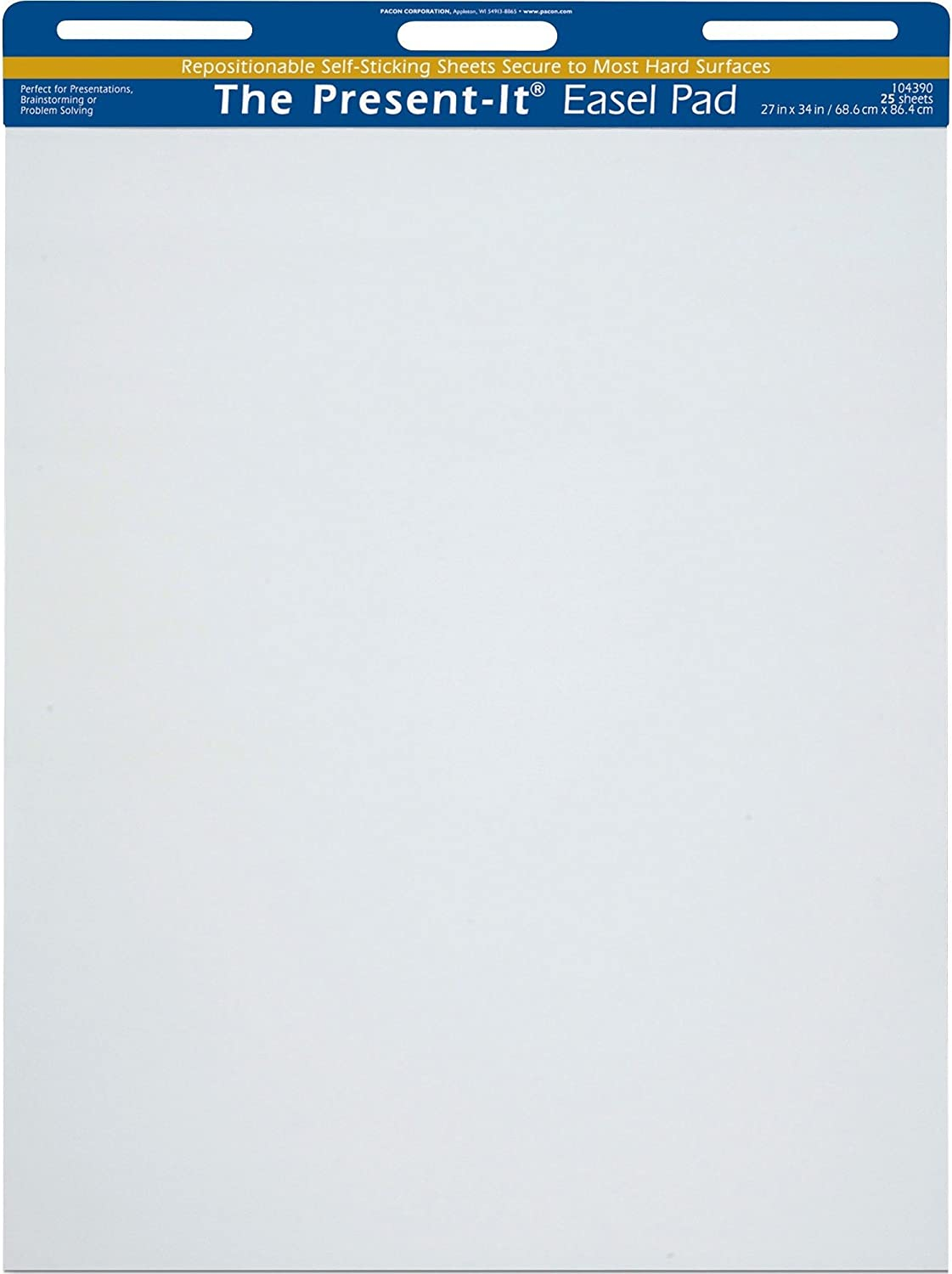 """B000CD0384 Present-It Easel Pad With Adhesive, 27""""X34"""", Unruled, 25 Sheets 71eBxqFp3vL"""