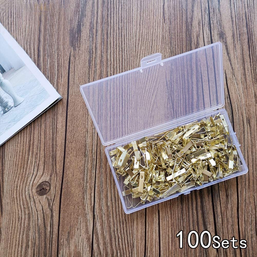 30lbs Picture Hangers with Nails Heavy Duty Picture Frame Hanging Kit for Wall Mounting 100PCS Picture Hooks