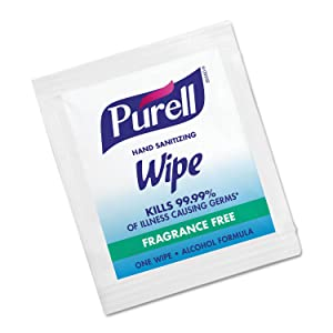 PURELL 902210BX Sanitizing Hand Wipes, 5 x 7, 100/Box