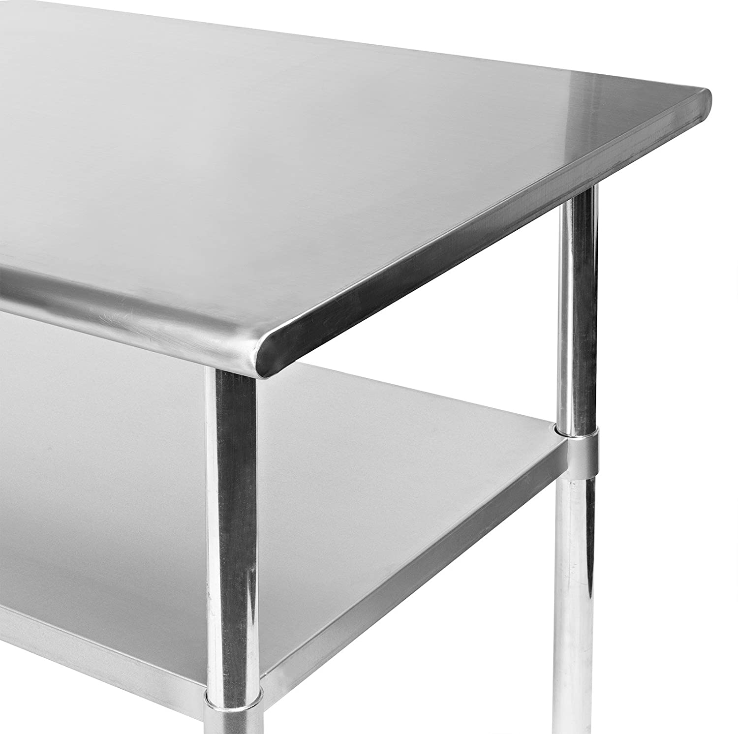 Amazoncom Gridmann Inch X Inch Stainless Steel Kitchen Table - 8 ft stainless steel work table