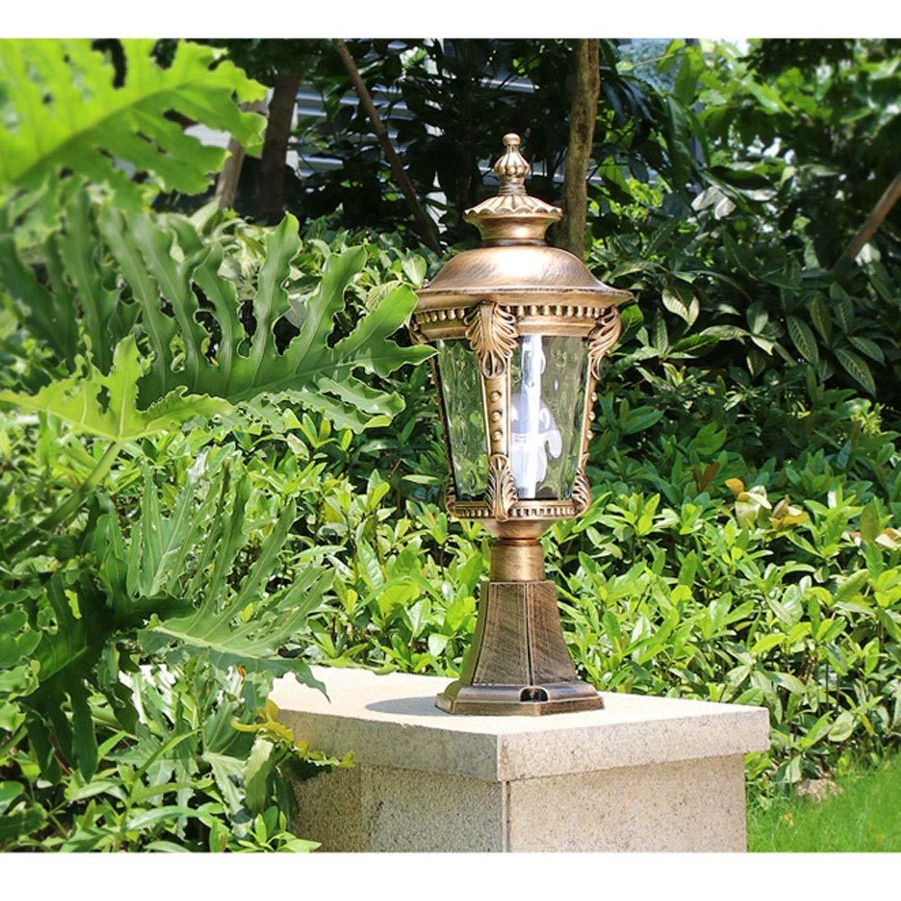 Waterproof Wall Light/Outdoor Column Head Light/Villa Garden Door Light/Door Light/Garden Light/Wall Lamp (Color : Bronze 2) by Outdoor lighting (Image #2)