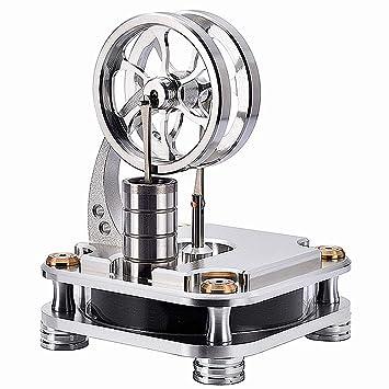 Bausatz Kit Niedertemperatur Stirlingmotor Dampf Wärme Spielzeug Maschine NUE