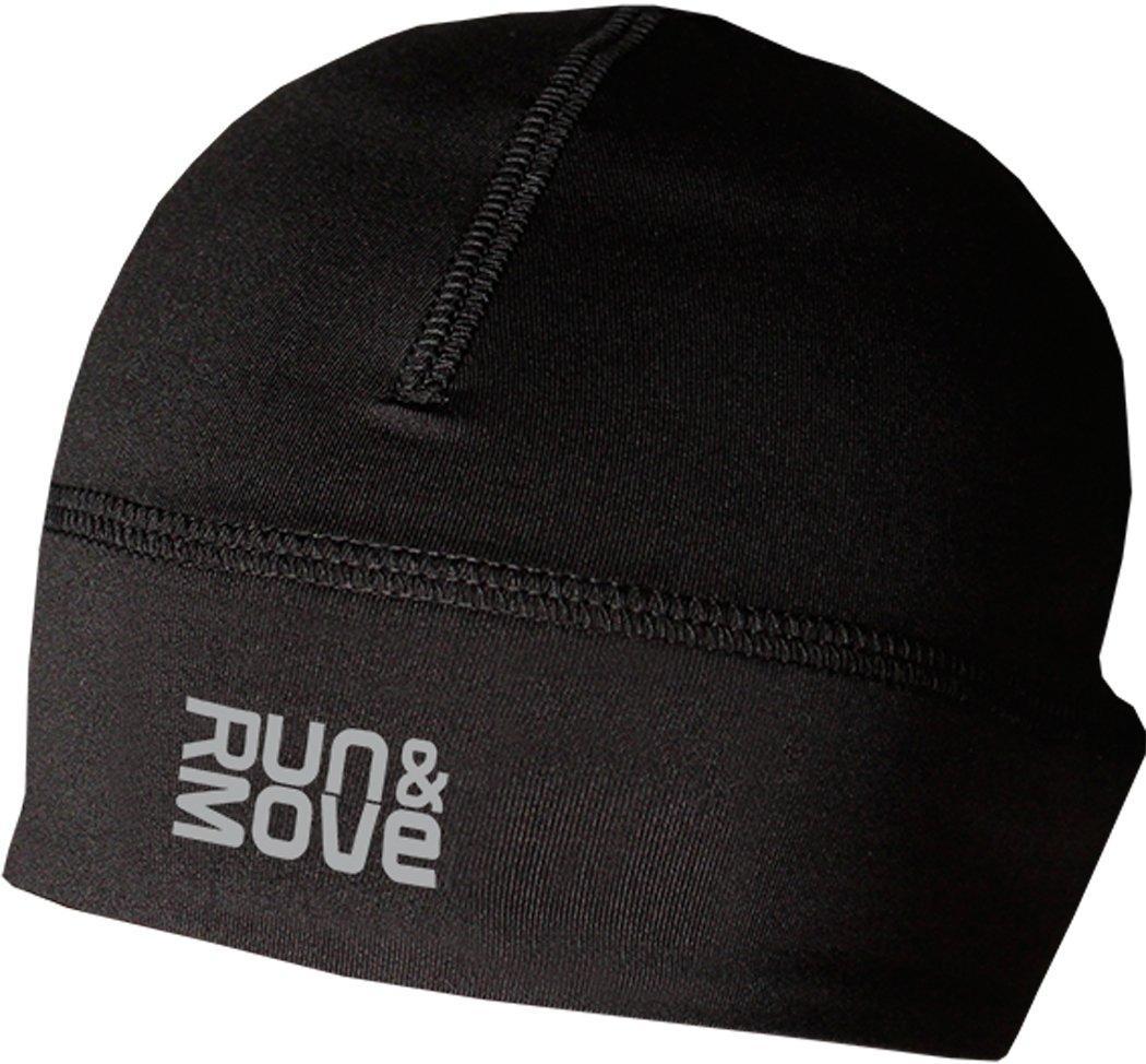 Run & Move Beanie Laufmütze Laufkappe Funktionskappe Mütze Kappe Running (L/XL (56-60cm), schwarz)