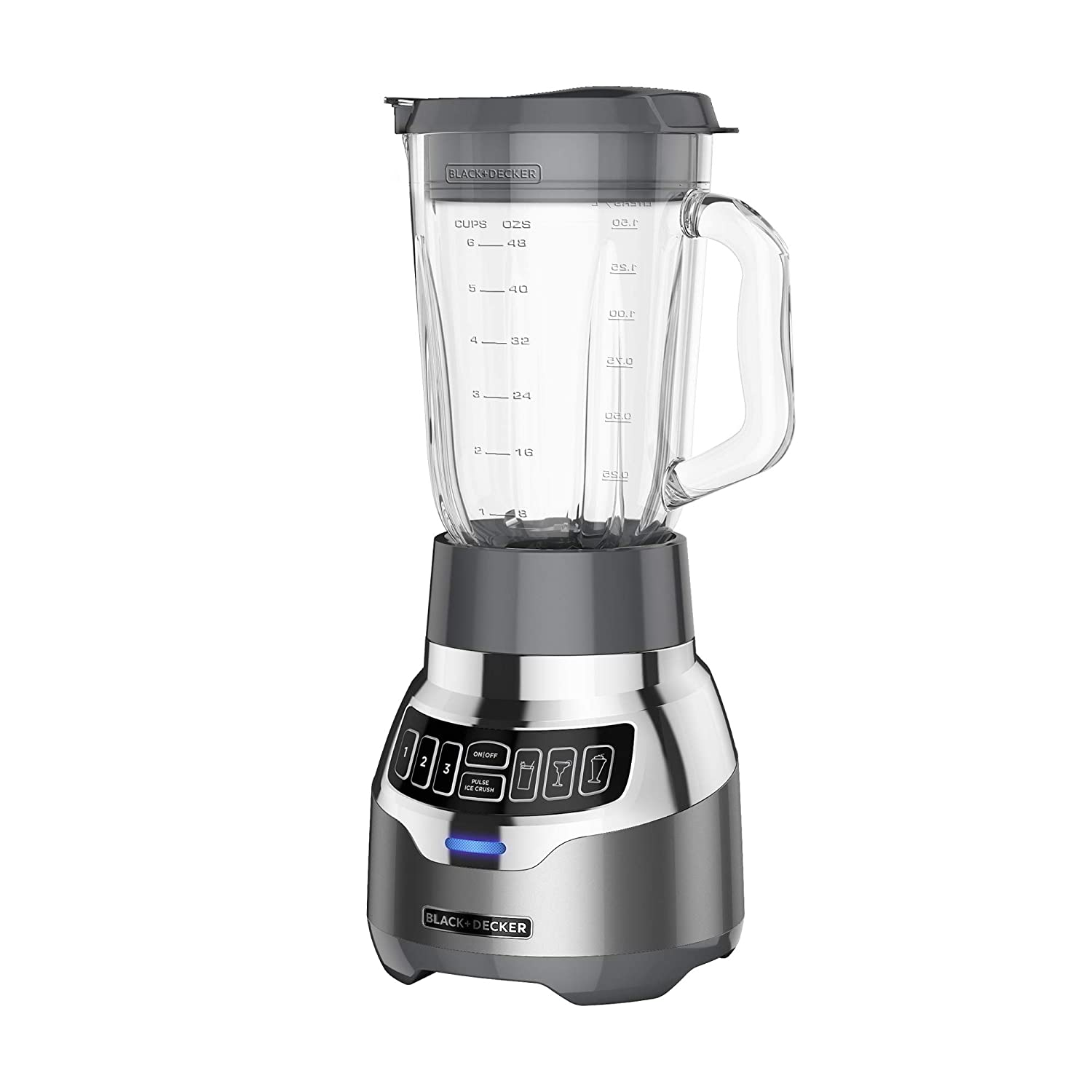 BLACK+DECKER PowerCrush Digital Quiet Blender, New Quiet Technology, BL1300DG-P