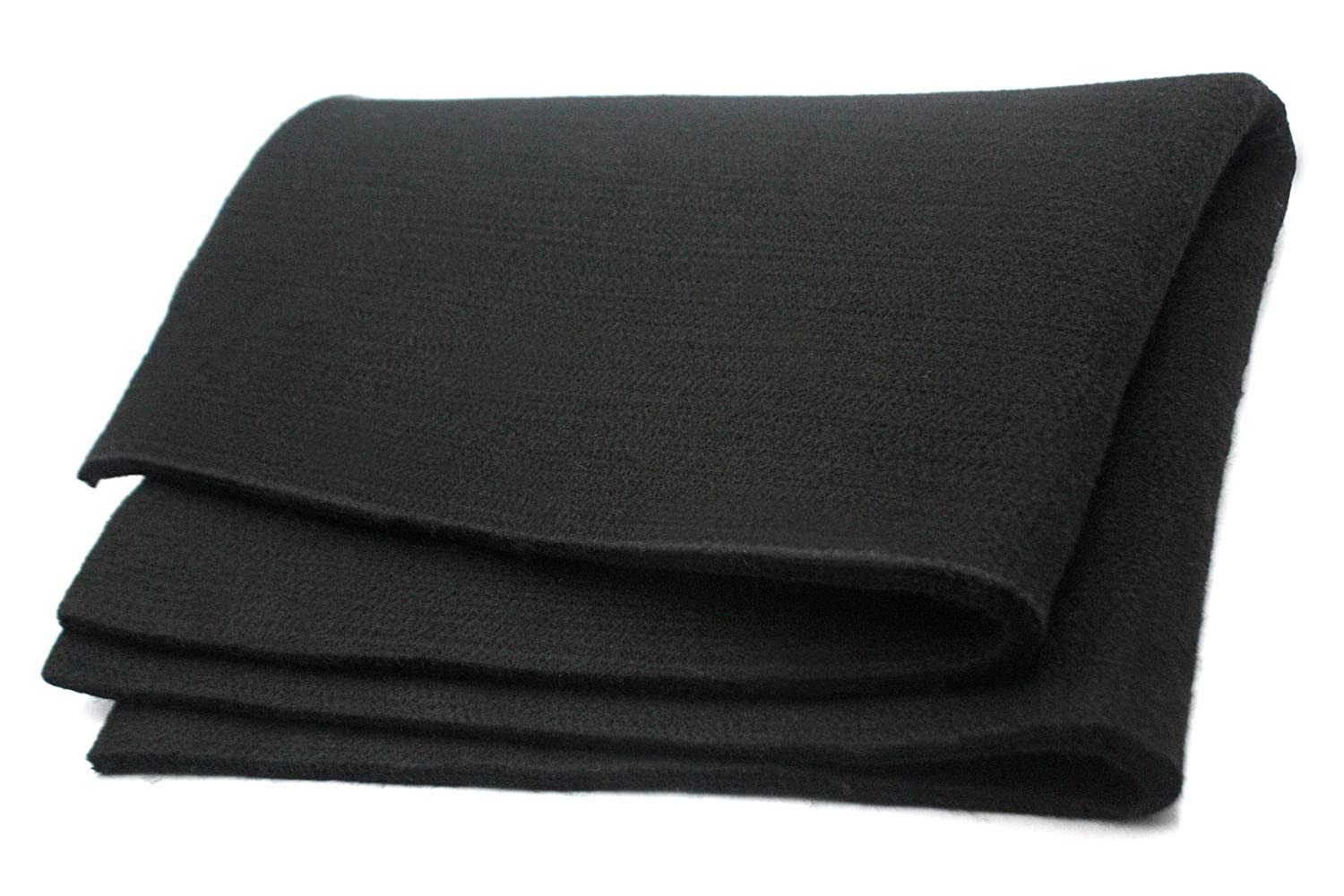 Welding Blanket Felt Carbon Fiber Fire Blanket Protect Work Area from Sparks Black 24 x 18 x 0.24inches
