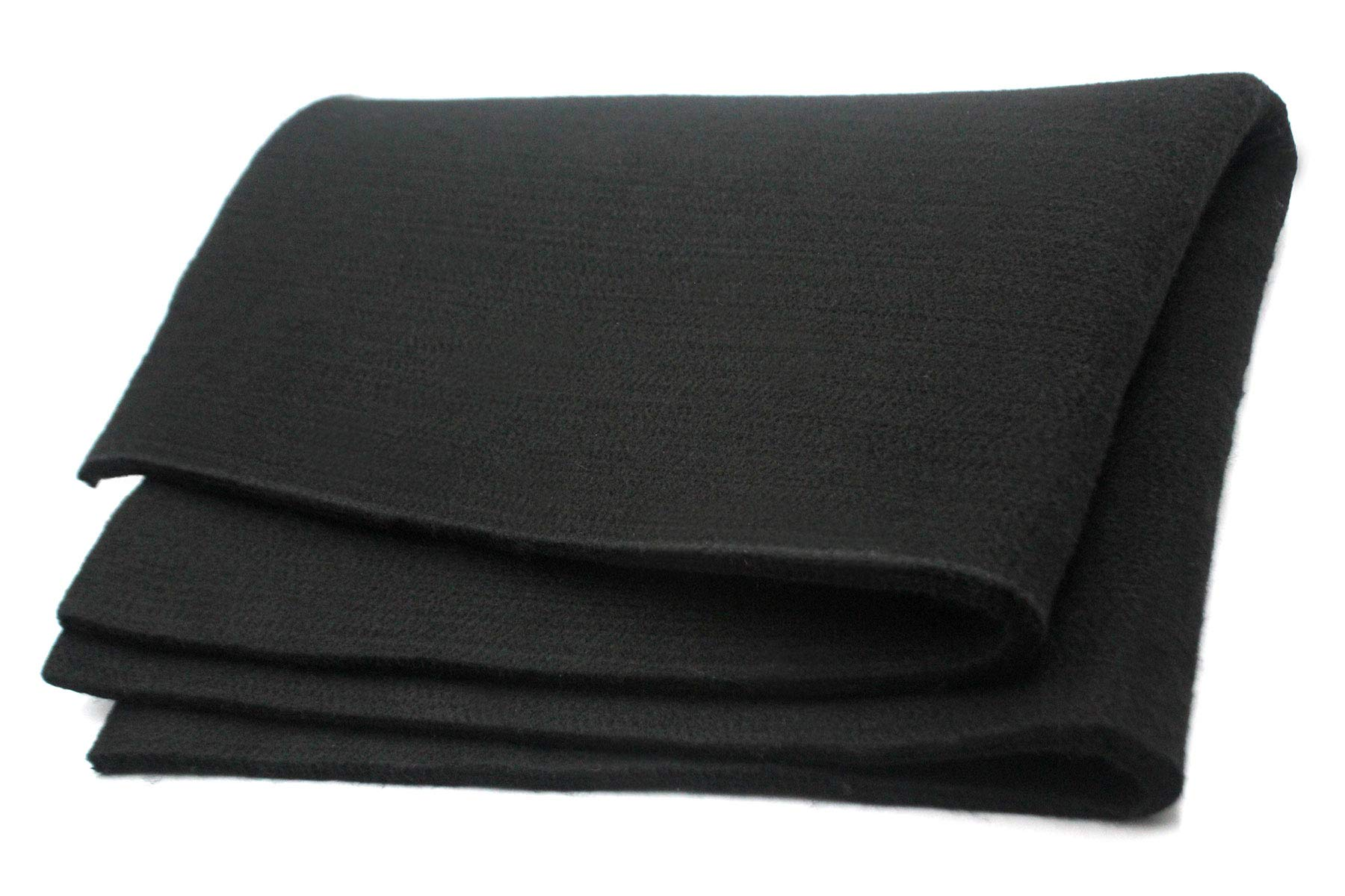 Welding Blanket Felt Carbon Fiber Fire Blanket Protect Work Area from Sparks Black (24 x 18 x 0.24inches)