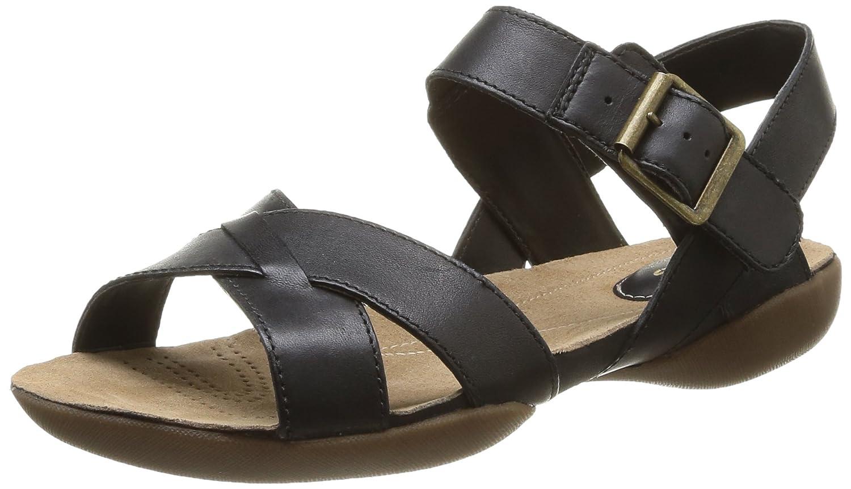 1915cc748 Clarks Raffi Flower Womens Leather Sandals - Size  6.5 AUS or 4.5 UK -  Color  Black  Amazon.com.au  Fashion