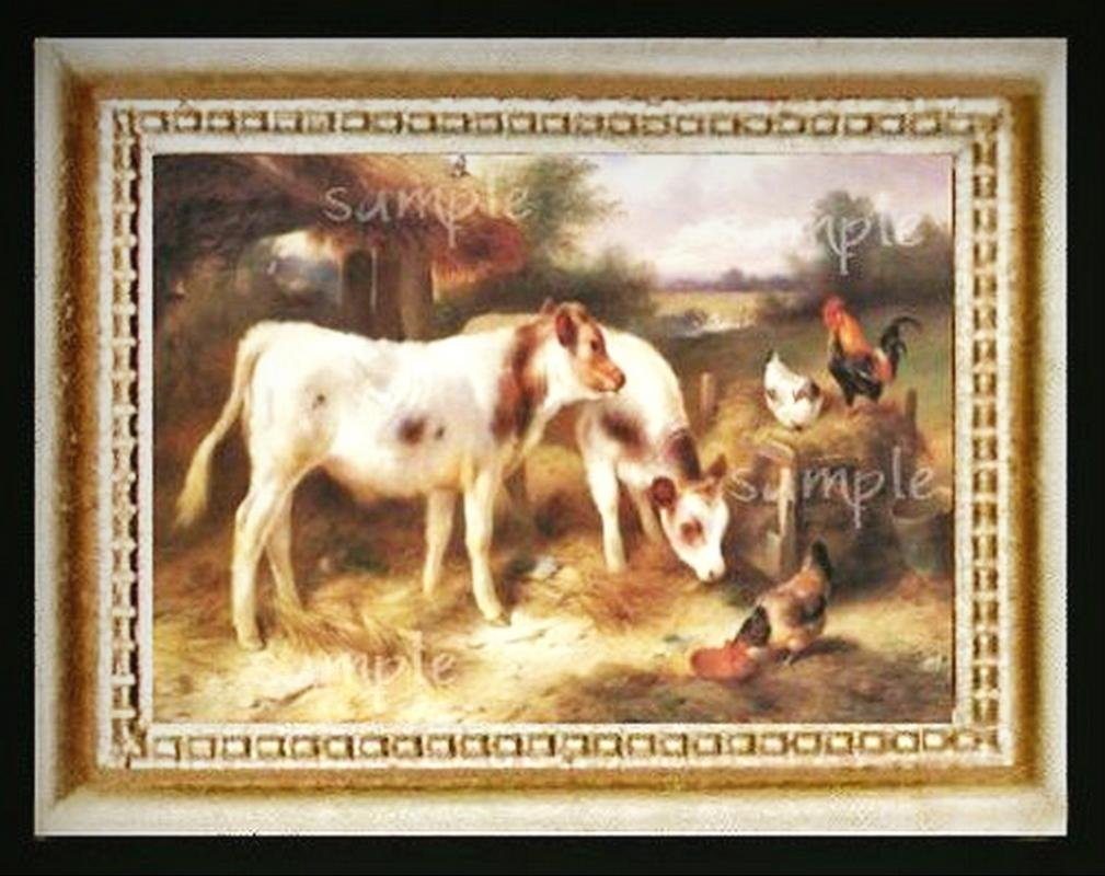 Cows  Miniature Dollhouse Doll House Picture