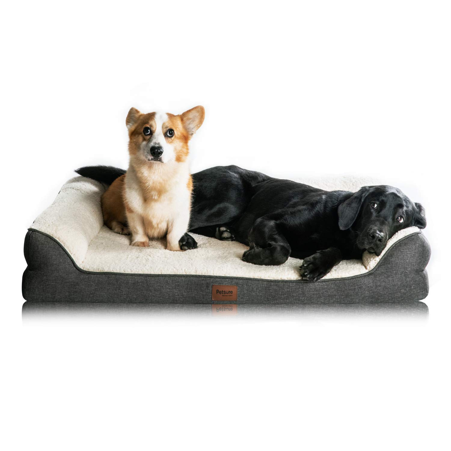 Astounding Bedsure Orthopedic Dog Beds Extra Large Memory Foam Couch Dog Sofa With Removable Washable Cover Nonskid Bottom 106X81X18Cm Home Interior And Landscaping Palasignezvosmurscom