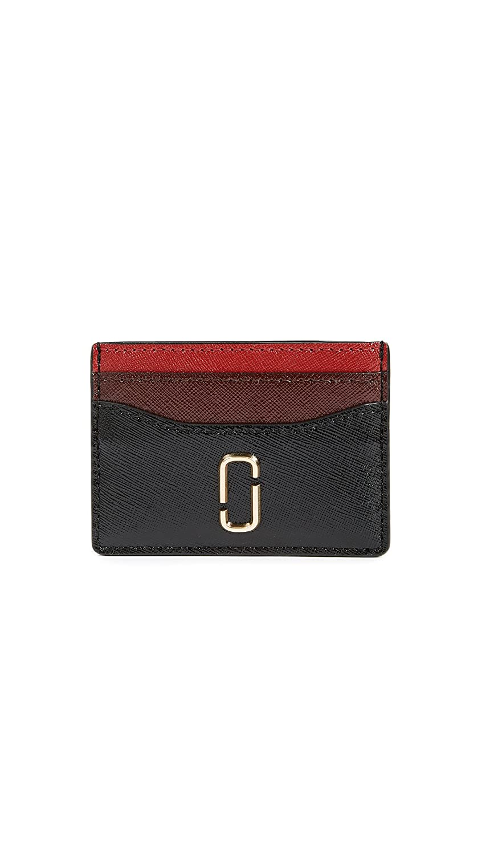 newest 20d85 e06b3 Marc Jacobs Women's Snapshot Card Case, Black/Chianti, One Size at ...