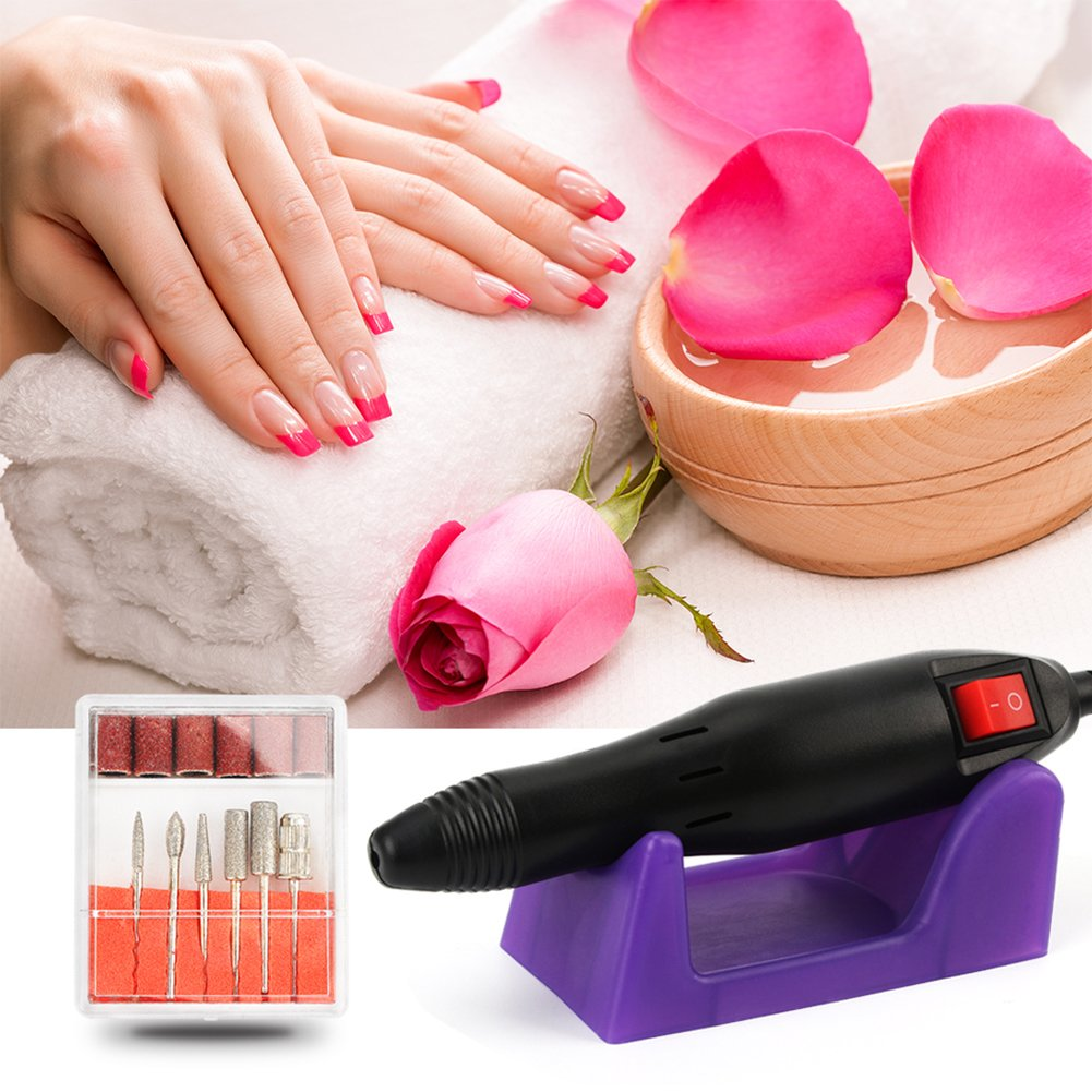 Electric Nail Drill Machine Nail File Drill Set Kit for Acrylic Nails, Gel Nail, Nail Art Polisher Sets Glazing Nail Drill Fast Manicure Pedicure by Buycitky by Buycitky (Image #6)