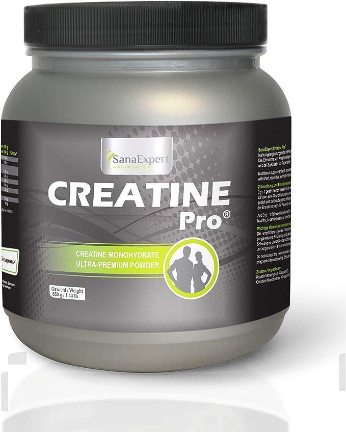 SanaExpert Creatine Pro (Creapure®), Bebida Deportiva para Aumentar la Masa Muscular, la Fuerza y la Resistencia, 215 Porciones, 100% Monohidrato de ...