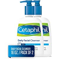 2-Pack Cetaphil Facial Cleanser, Daily Face Wash for Normal to Oily Skin, 16Oz