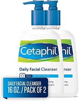 2-Pack Cetaphil Facial Cleanser, Daily Face Wash, 16Oz