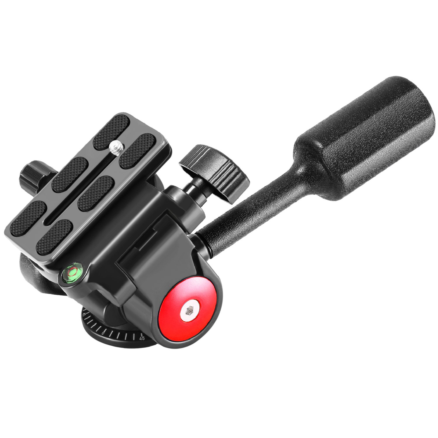 Neewer Single Handle Tripod Ball Head Three-Dimensional 360 Degree Rotation, with 1/4-3/8 Inches Screw for Tripod Monopod Camera Bracket Light Stand, Max Load 22 Pounds/10 Kilograms(Red+Black) by Neewer