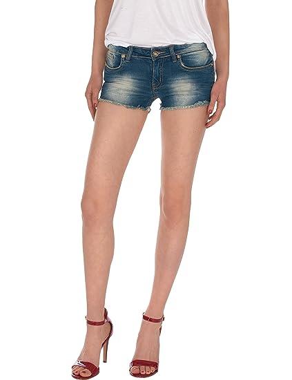 75a12b99a79b3 Fraternel Mini Short Jeans Femme effiloché Denim: Amazon.fr: Vêtements et  accessoires