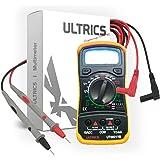 ULTRICS® Digital LCD Multimeter Voltmeter Ammeter OHM AC DC Circuit Checker Tester Buzzer 1000V 10A Probes