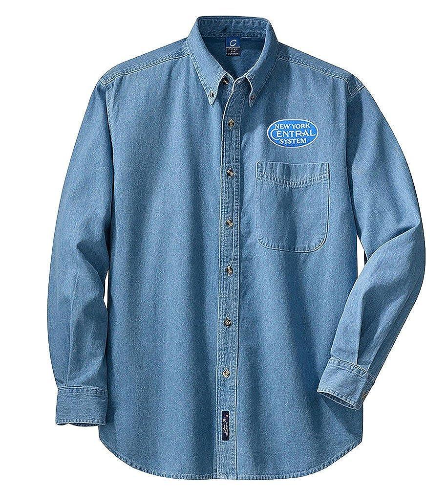 den29BlueLS NYC Blue Logo Long Sleeve Shirt Black Adult 3XL
