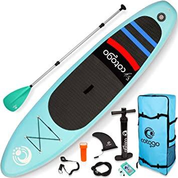 Cotogo Tabla de Surf Hinchable con Bomba, Remo, Aleta, Kit de ...