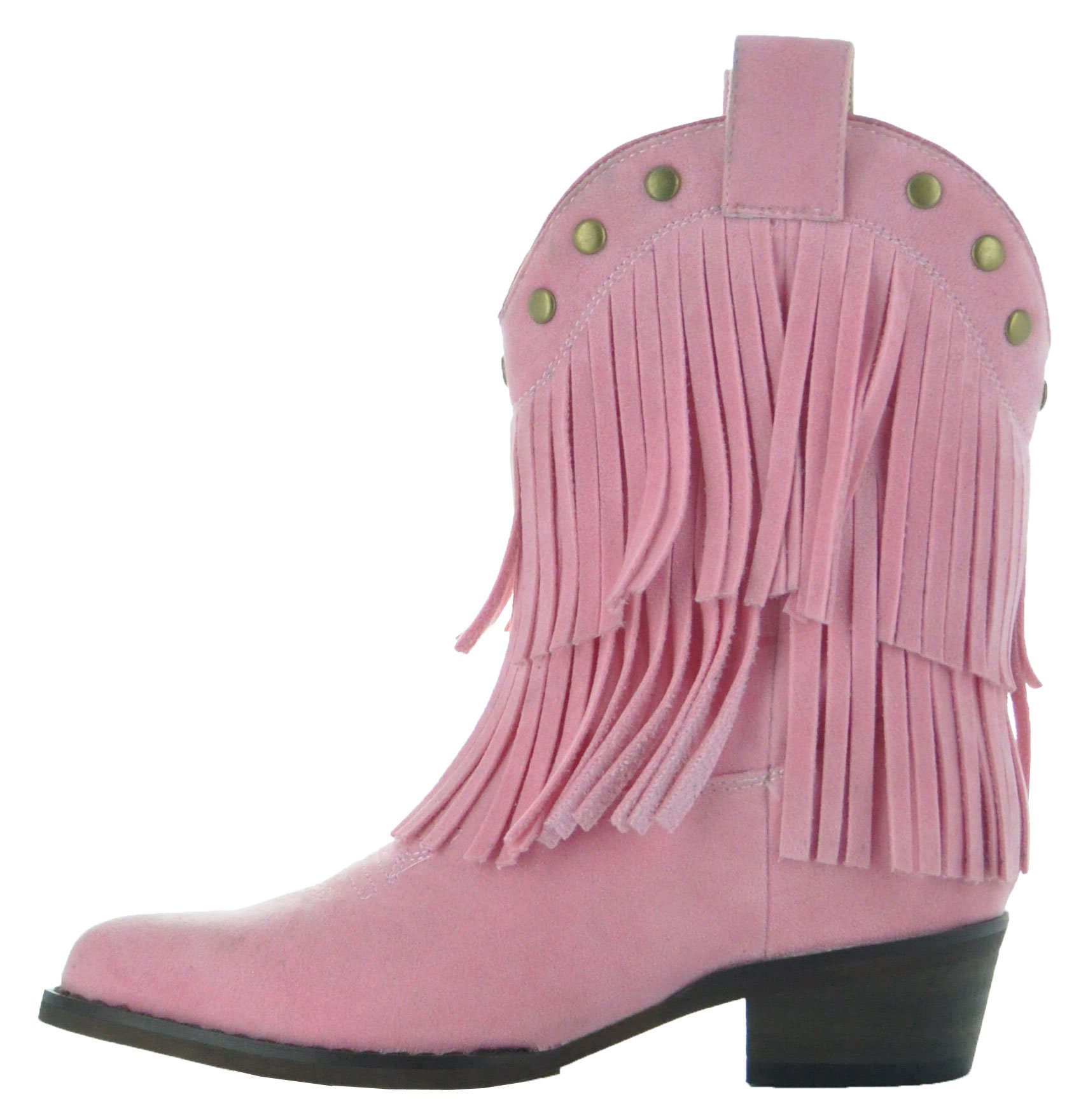Little Kids Fun Fringe Brown Cowgirl Boots by Country Love Boots (11.5 Little Kid, Pink) by Country Love Boots (Image #3)