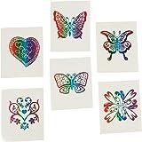 Fun Central (AZ961) Rainbow Glitter Temporary Tattoos -72ct