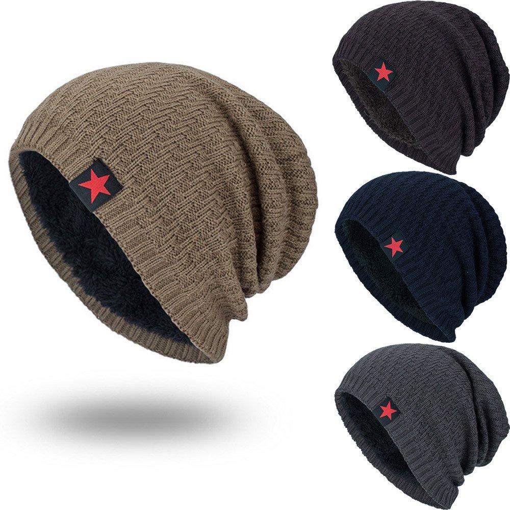 9e122189ac8 iYBUIA Unisex Knit Cap Hedging Head Hat Beanie Cap Warm Outdoor Fashion Hat(Coffee