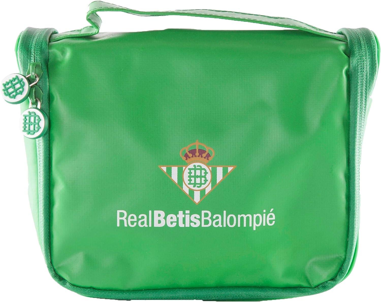 Real Betis Balompié Balompié Neceser de Viaje - Producto Oficial del Equipo, con Percha para Colgar y Varias Alturas para Guardar Artículos de Aseo