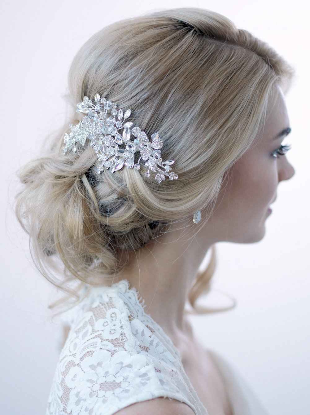 USABride Swarovski Crystal Rhinestone Bridal Clip Wedding Comb Hair Accessory TC-2265 by USABride