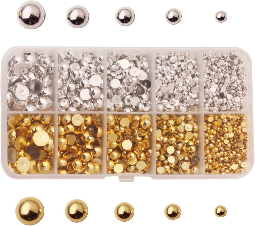 12mm Flat back Beaded Pearl Gems//card making//Scrapbooking//Wedding