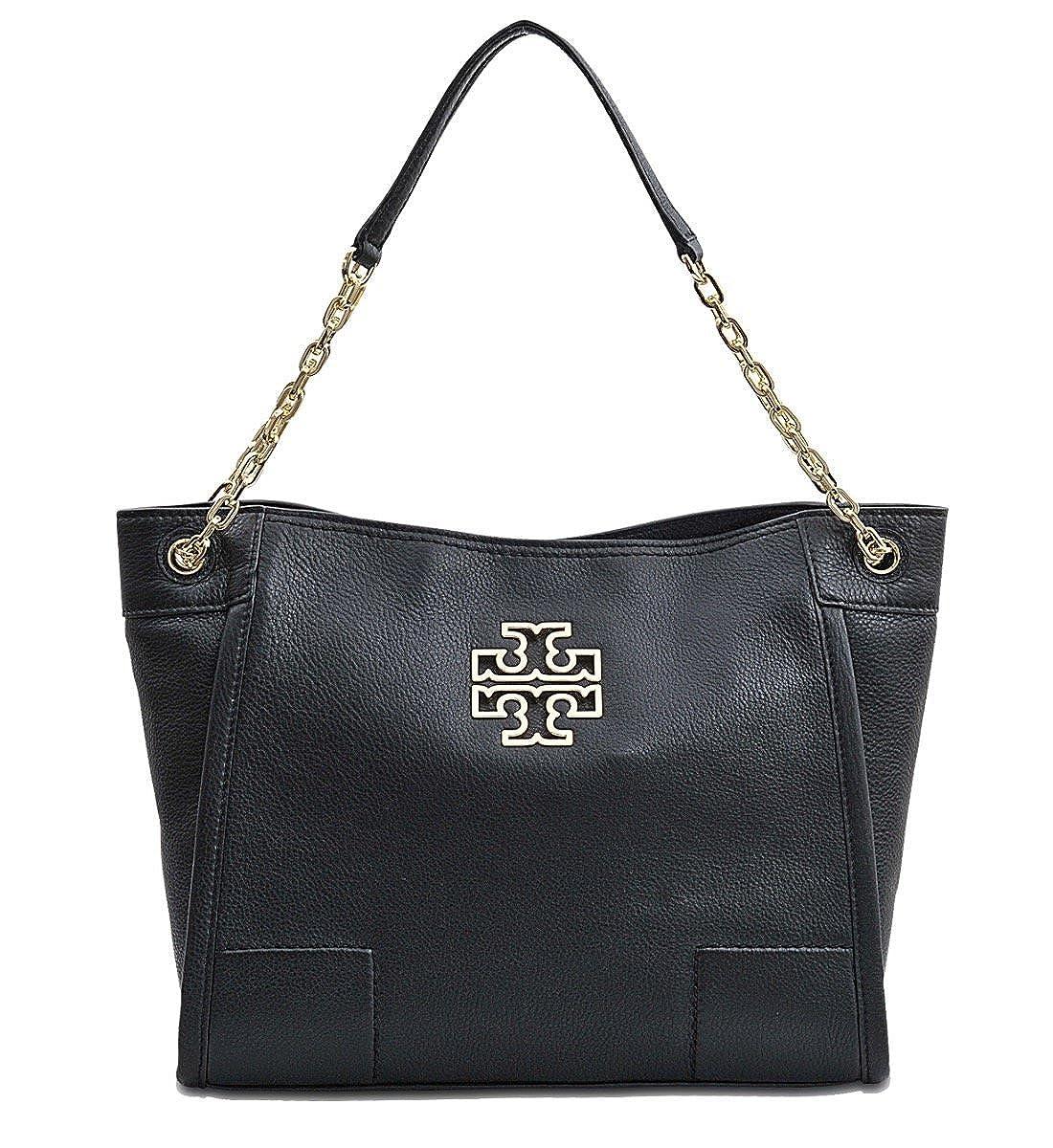 eb4e329f73d3 Amazon.com  Tory Burch Britten Small Slouchy Tote Bag In Black 8170  Shoes