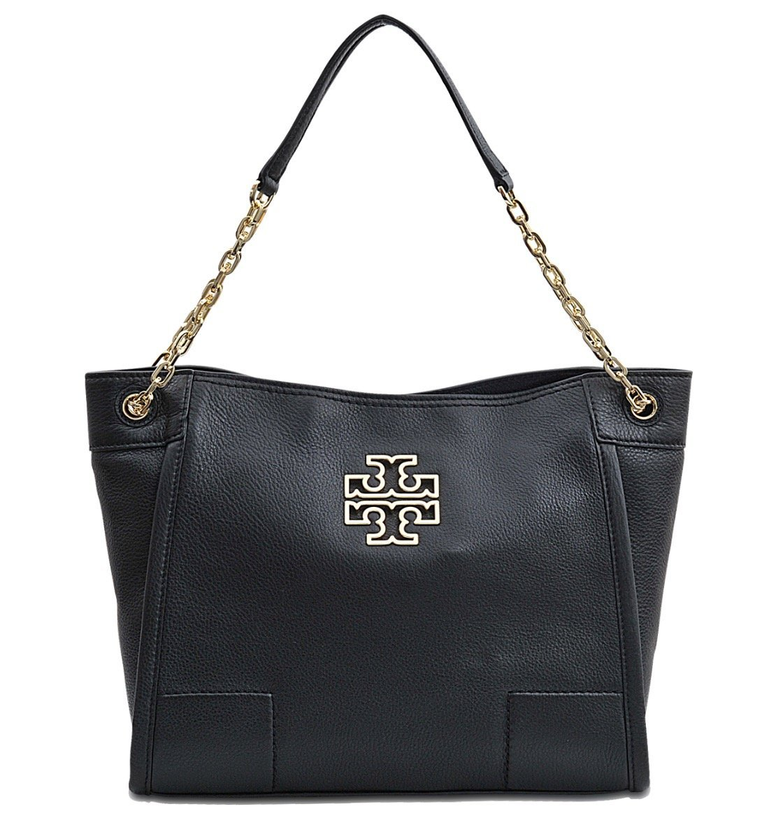 Tory Burch Britten Small Slouchy Tote Bag In Black Style 39057 by Tory Burch