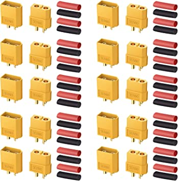 20PCS 10 Pairs XT60 Male Female Bullet Connectors Plugs For RC Lipo Battery