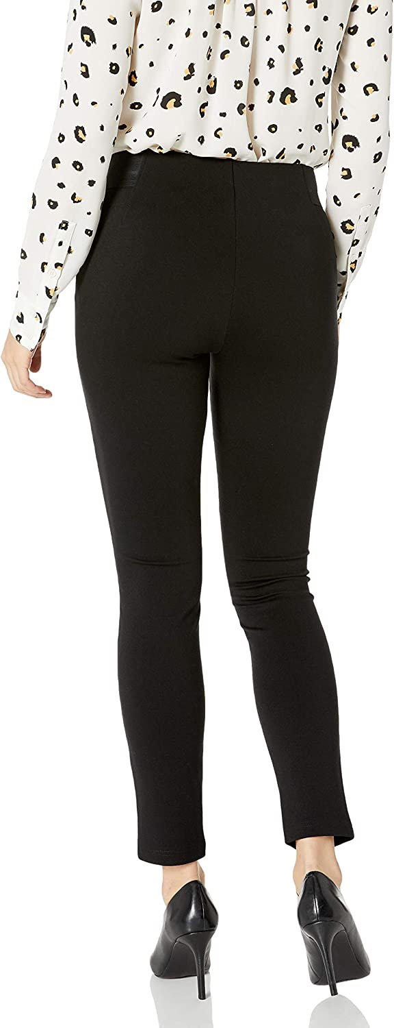Chaps Womens Petite Skinny Faux Suede Legging