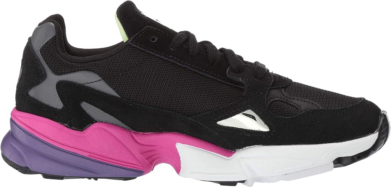 Adidas Originals Falcon W, Pompe Femme Noir Rose Vif