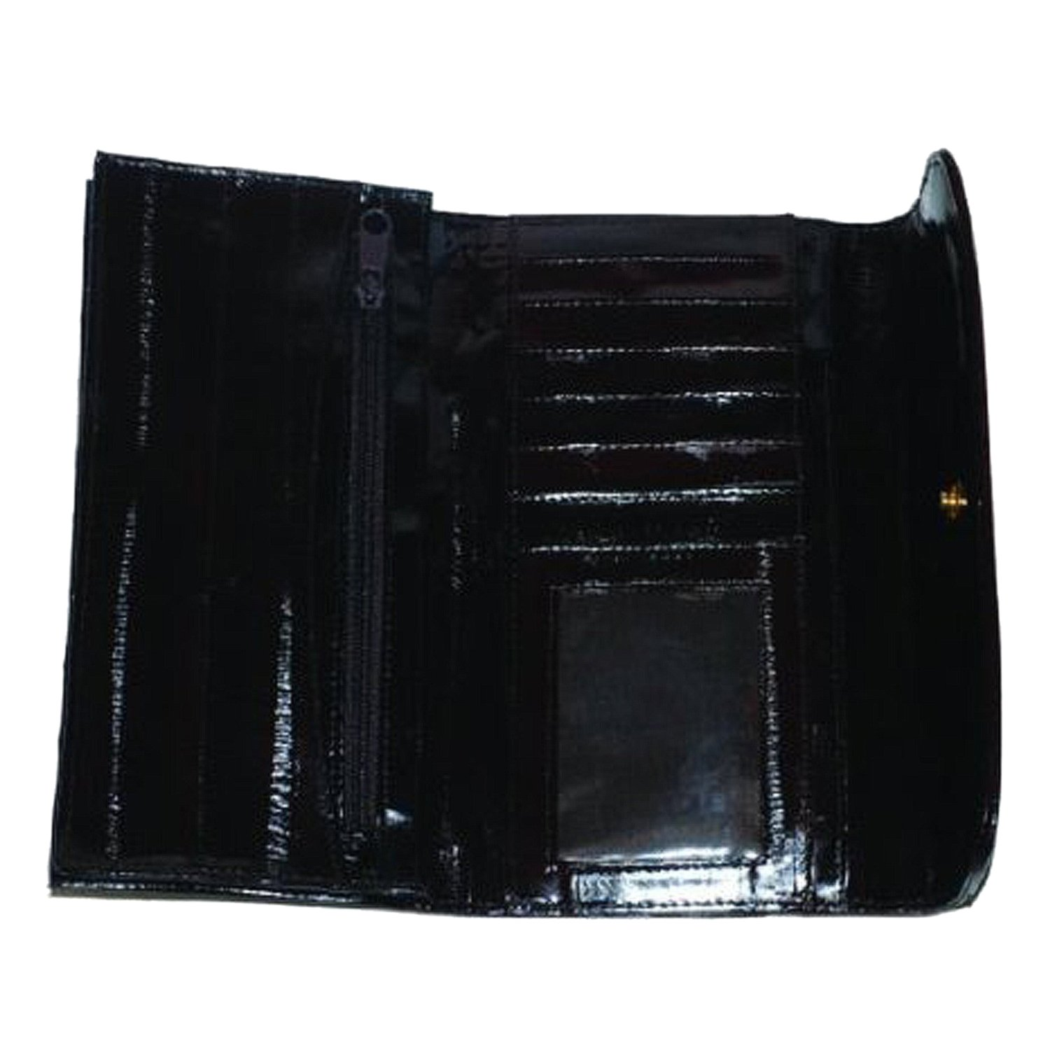 New Soft EEL Skin Leather Checkbook Wallet W/Snap Closure #E2575 by Marshal