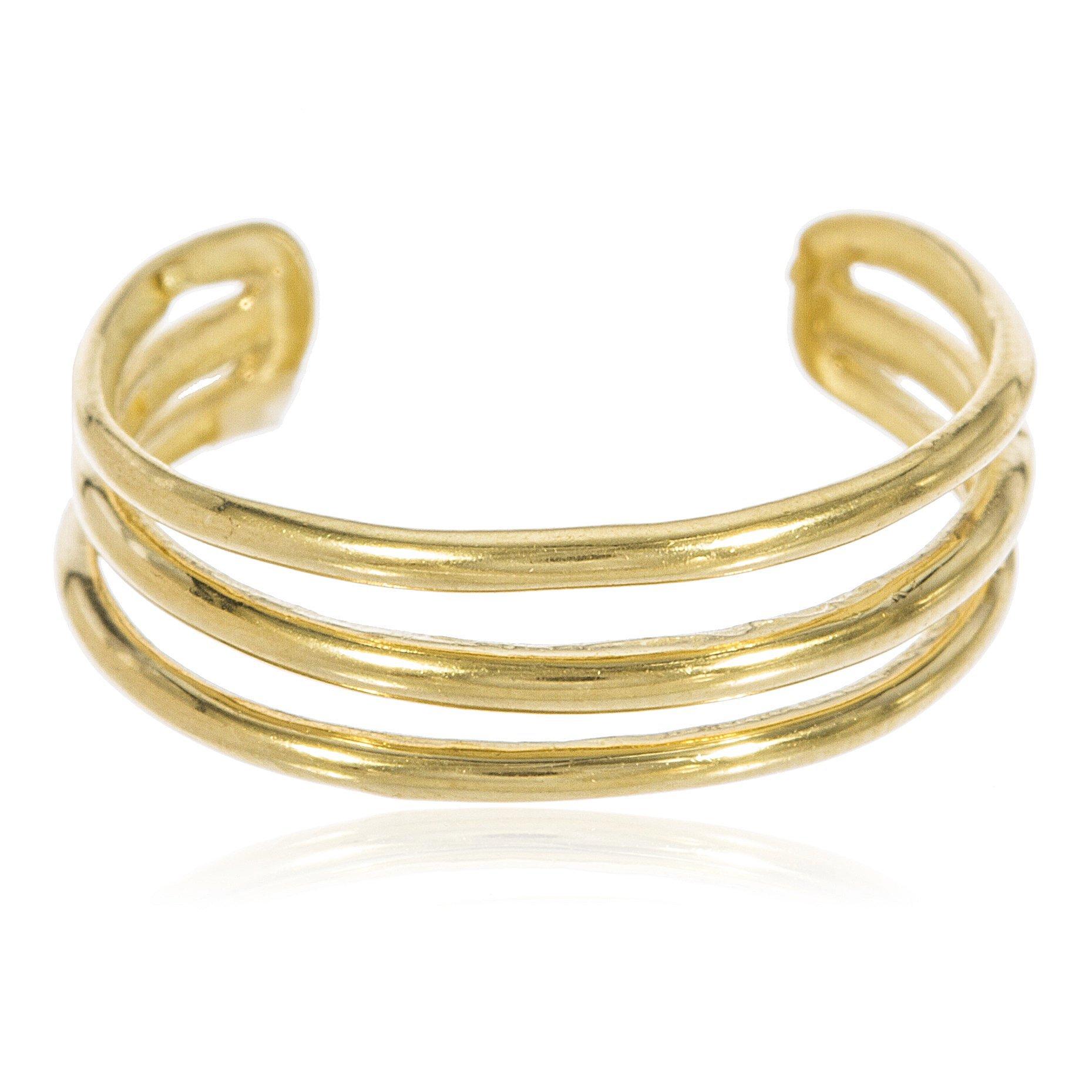 JOTW 10k Yellow Gold Three Wire Toe Ring (GO-541)