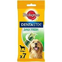 Pedigree Dentastix Fresh Snack Dental para la Higiene Oral y Contra el Mal Aliento de Perros Grandes (10 paquetes de 7ud…