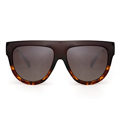 Jim Halo Gafas de Sol Polarizadas Planas Top Oversized Grueso Ojos de Gato Cuadrado de Moda Anteojos