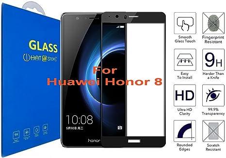 Huawei Honor 8 - Curvo 3D Borde Suave Cristal Templado Protector ...