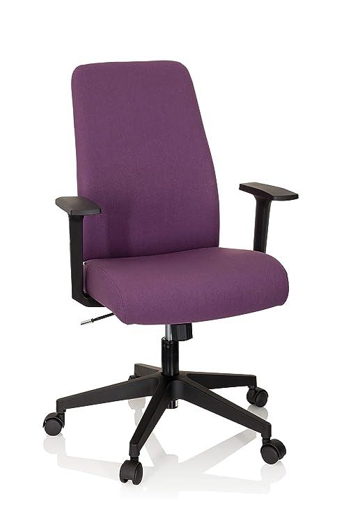 hjh OFFICE 750023 silla de escritorio COSIO tela lila acolchado ...