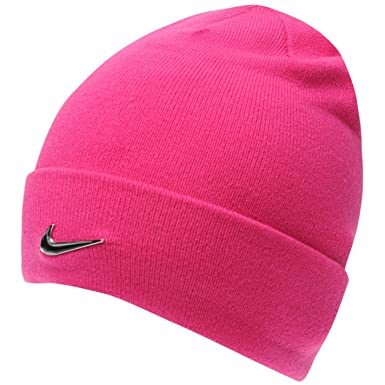 Nike Beanie Hat Metal Swoosh Junior Girls Pink Cap Age 8 to 12 Years ... 920c94ac81a