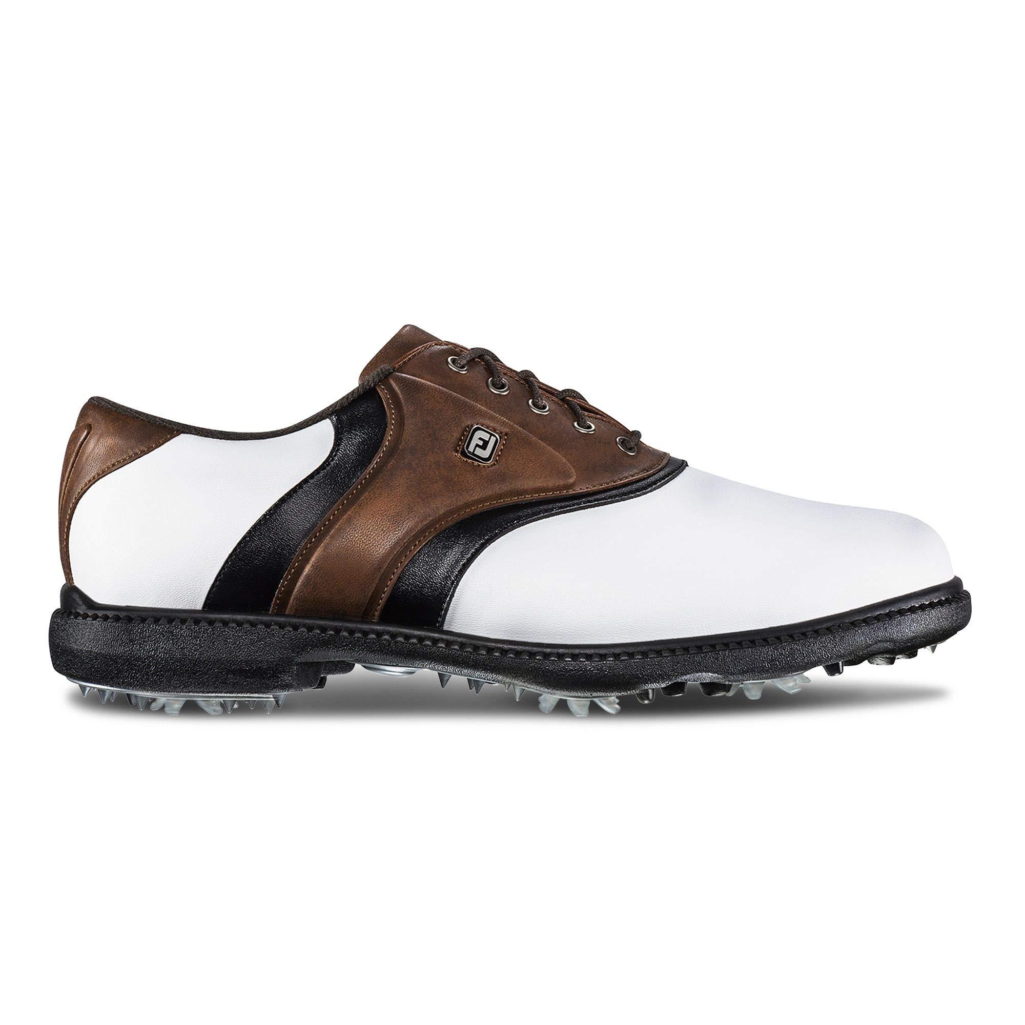 FootJoy Men's Originals Golf Shoes White 10 M Brown, US by FootJoy