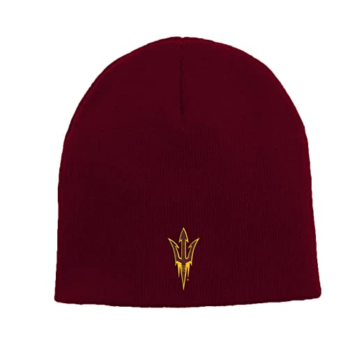 9ca573fa6cc0d4 Amazon.com : Outerstuff NCAA Arizona State Sun Devils Youth Boys Basic  Uncuffed Knit Hat, 1-Size, Classic Maroon : Clothing