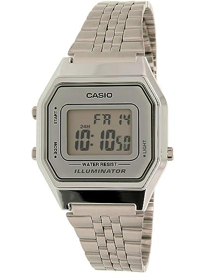 a6c57d53f40 Relógio Feminino Digital Casio Vintage LA680WA-7DF - Prata  Amazon ...