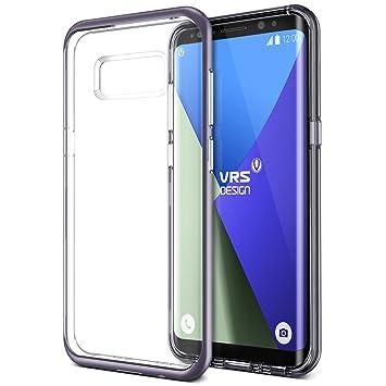 Funda Galaxy S8 Plus VRS Design® Carcasa Transparente [Gris Orquidea] Flexible TPU Protección de Grado Militar Carcasa Choque Absorción [Crystal ...