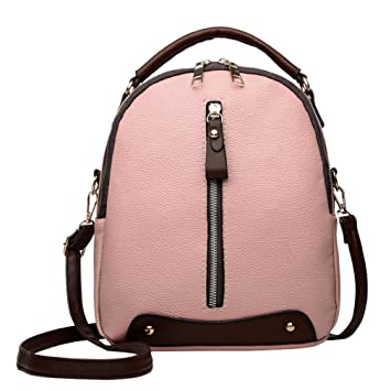 c981870d36e Women Double Shoulder Bags,Neartime Vintage Leather Backpack Travel School  Bag