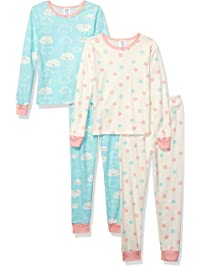 a253e88855 Gerber Girls  Toddler Organic 2 Pack 2-Piece Cotton Pjs