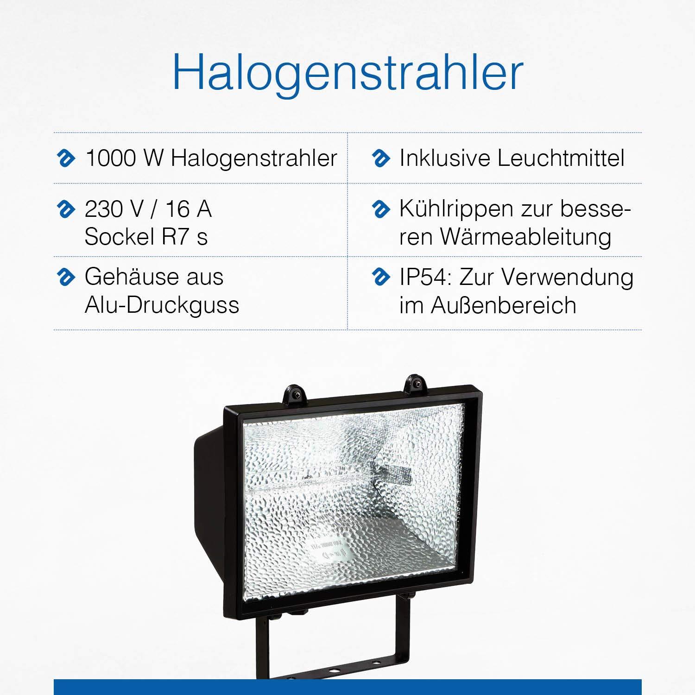 AS-Schwabe 44150 1500 W Foco hal/ógeno
