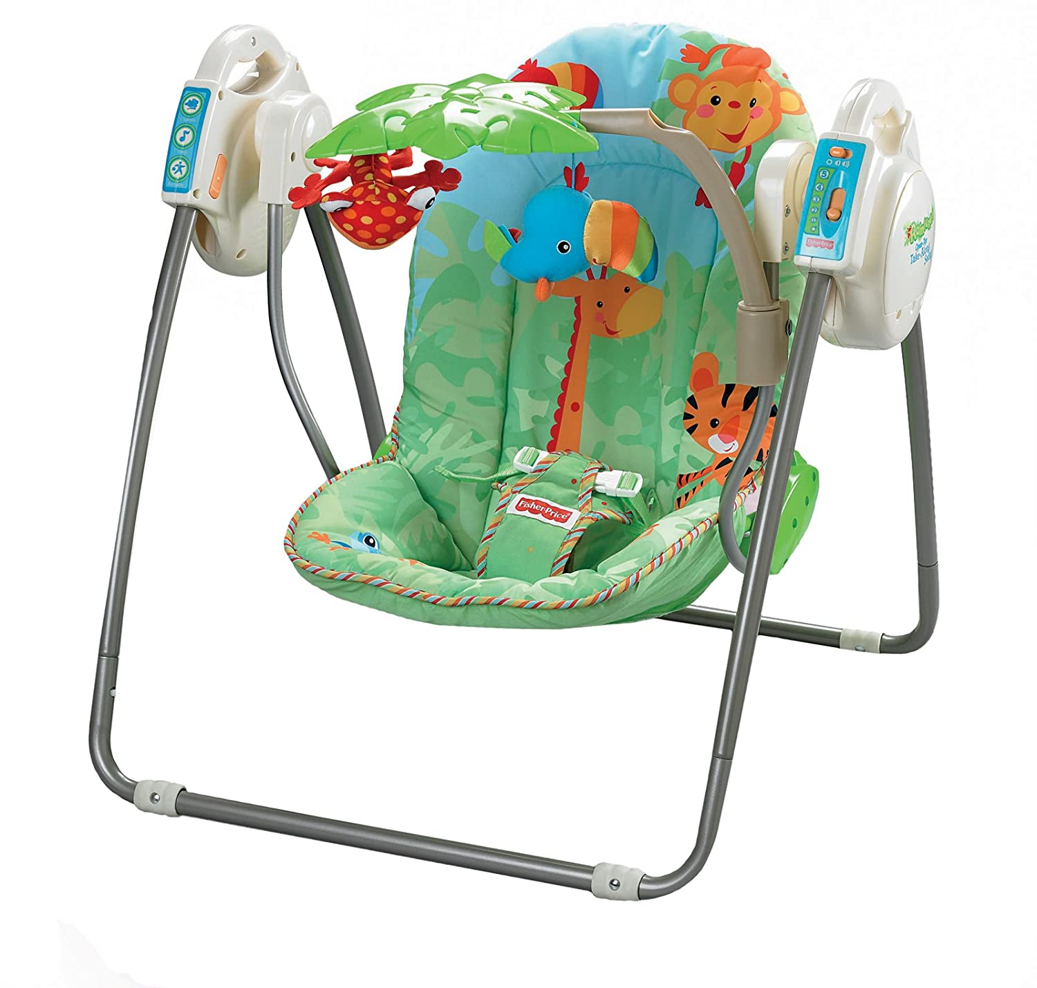 Fisher Price Rainforest Open Top Take Along Swing Amazon Baby