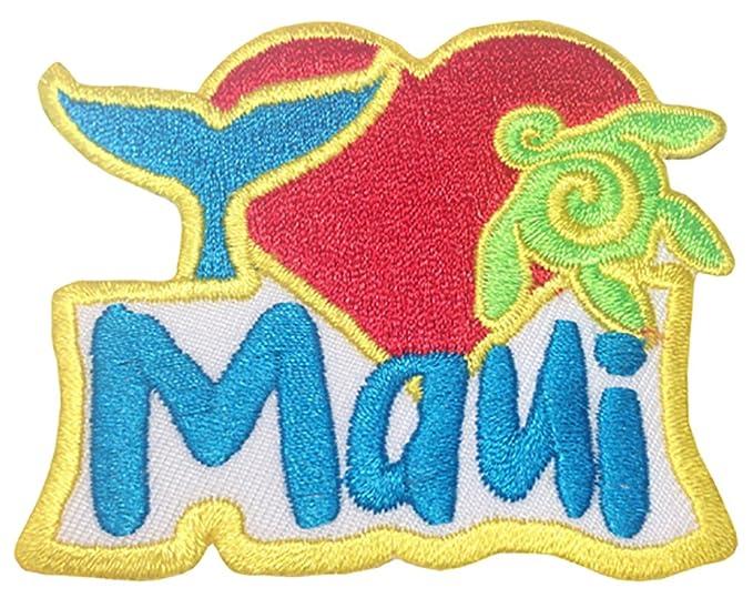 Amazon Hawaii Iron On Embroidery Applique Patch I Love Maui
